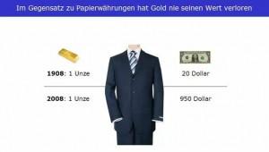 Papiergeld verliert an Wert - Gold erhält die Kaufkraft